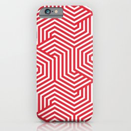 Rose madder - red - Minimal Vector Seamless Pattern iPhone Case