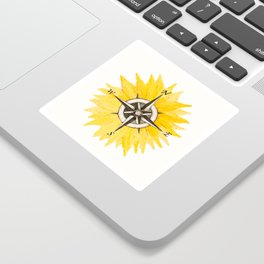 Compass  Sunflower Sticker