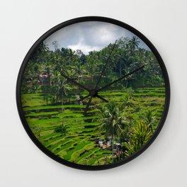 Bali Rice Fields Wall Clock