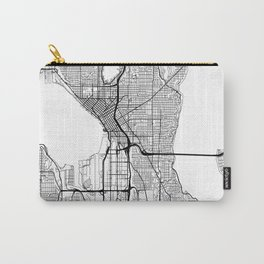 Seattle Map White Carry-All Pouch