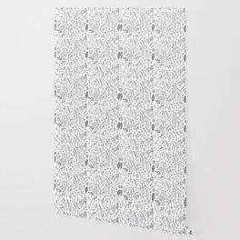 Black and White Botanical Sketchbook Wallpaper