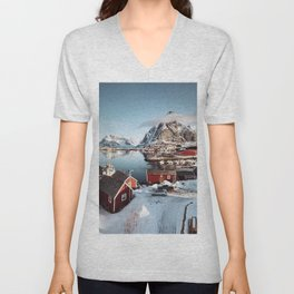 reine at lofoten Unisex V-Neck