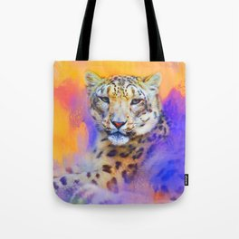 Colorful Expressions Snow Leopard Tote Bag
