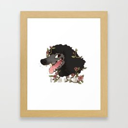 I Bite (Black) Framed Art Print