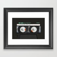 cassette classic mix Framed Art Print
