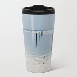 A blue lagoon and the water reflections Travel Mug