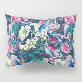 Unicorn and Floral Pattern Pillow Sham