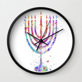 Menorah Wall Clock
