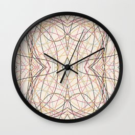Filigree Clored Lines Etiainen Wall Clock