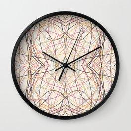 Filigree Clored Lines Etiainen Wall Clock