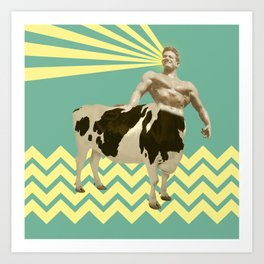 The real muscular cow-boy  Art Print