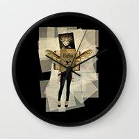 kafka Wall Clocks featuring Mrs. Kafka by Studio Judith