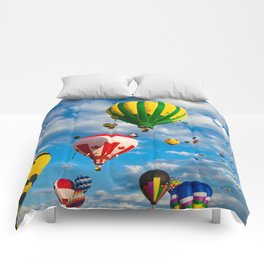 Vibrant Hot Air Balloons Comforters
