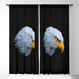 Fractal Bald Eagle Blackout Curtain