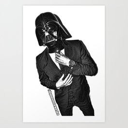 Darth Banker Art Print