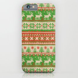 Ugly Christmas Sweater Digital Knit Pattern iPhone Case