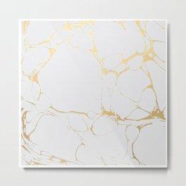 Marble Gold  Metal Print