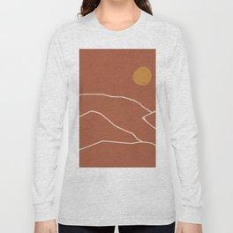 Minimal Abstract Art Landscape 2 Long Sleeve T-shirt