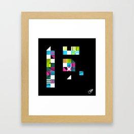 Something Other 4 On Black Framed Art Print