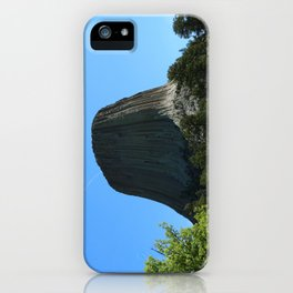 Devils Tower Rising Into The Sky iPhone Case