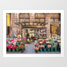 Flowers Seller, Martin Place Sydney Art Print