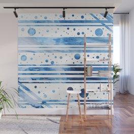 Indigo Geometrics Wall Mural