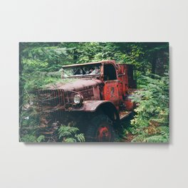 Abandoned Truck in the Woods Metal Print