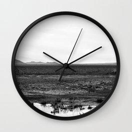 Salt Flat Road Wall Clock