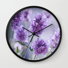 lavender Purple Wall Clock