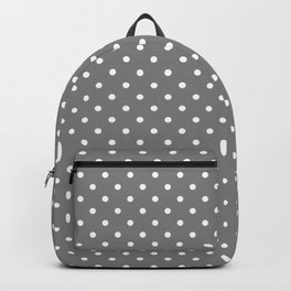 Dots (White/Gray) Backpack