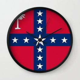 South Carolina Secession Flag Wall Clock