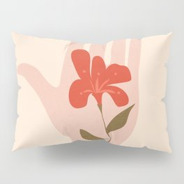 Flower on the Palm of the Hand Pillow Sham