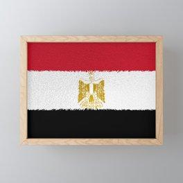 Flag of Egypt - Extruded Framed Mini Art Print