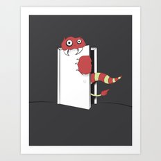 Closet Monster Art Print