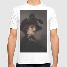 Rembrandt - Portrait of a man in a plumed hat T-shirt