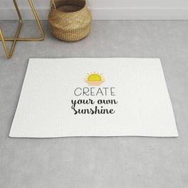Create your own sunshine Rug