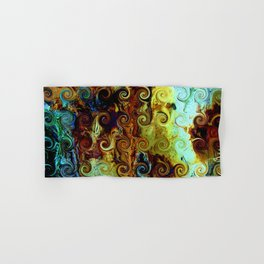 Colorful Wood Spirals Background #Abstract #Nature Hand & Bath Towel