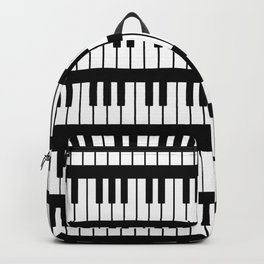 Black And White Piano Keys Pattern Backpack