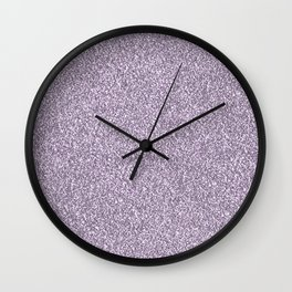 Abstract lavender lilac white faux glitter Wall Clock