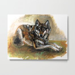 Totem Carpathian wolf realistic Metal Print