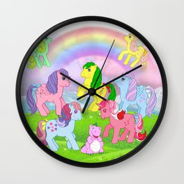 g1 my little pony collage Wall Clock