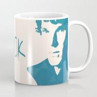 sherlock Mugs featuring Sherlock by Sunli
