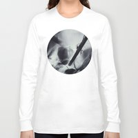 waterfall Long Sleeve T-shirts featuring Waterfall by Leah Flores