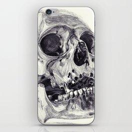 Skull pencil drawing iPhone Skin