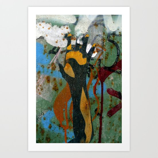 Reach and touch (2) Art Print