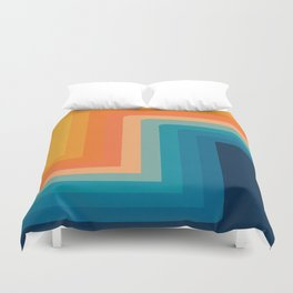 Retro 70s Color Lines Duvet Cover