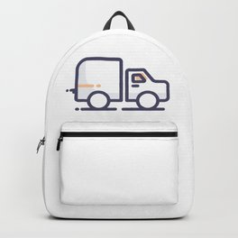 Truck Lineart Icon Backpack
