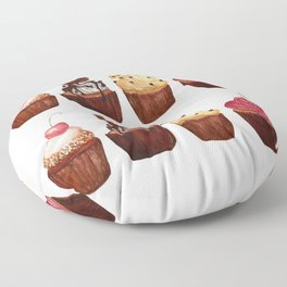 double row of cupcakes Floor Pillow