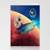 shark Stationery Cards featuring Shark by Cs025