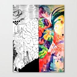 Right Left Brain Canvas Print